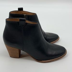 Madewell The Billie Black Leather Ankle Boots